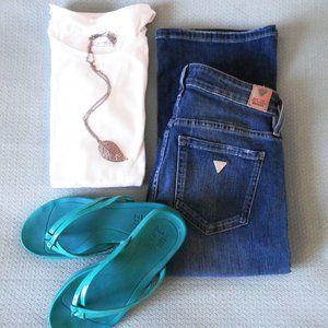 NWOT Guess Los Angeles Jeans Boot Cut 27 D…